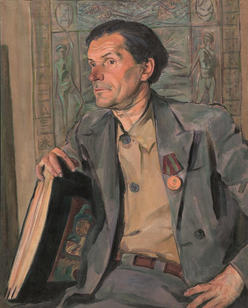 Leontev. Portret hudozhnika Kalmykova obrez Cronos Asia